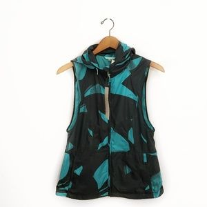 Lululemon Pack-It Vest Peacock Blue Black Sz 6 NWT